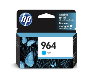 CARTUCHO HP 964 (3JA50A) - PRINT CARTRIDGE - 1 X CYAN - 700 PAGES, HP OFICEJET PRO 9020