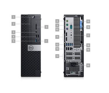 COMPUTADORA DELL OPTIPLEX 7070 SFF BTX, I7-9700 3.0GHZ UP TO 4.8GHZ, 8GB (1X8G) DDR4 2666MHZ, 1TB 3.5, W10 PRO 64-BIT ING, INCLUYE TECLADO + MOUSE ESPANOL