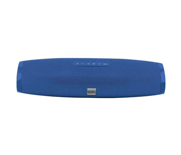 BOCINA COBY PORTABLE, FLAT TUBE SPEAKER BLUETOOTH, STEREO, WIRELESS, AUX, USB, FM, FABRIC, AZUL