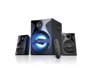 BOCINA MYO HT35 2.1, BLUETOOTH V3.0, RADIO FM, LECTOR SD/USB, LED, CONTROL REMOTO NEGRO, CON SUBWOOFER, REMPLAZ LA MYO-HT35.