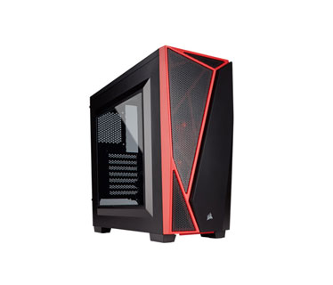 CASE CORSAIR CARBIDE SPEC-04 GAMING, MID TOWER, BLACK/RED, USB 3.0 X2, AUDIO IN / OUT, 7 EXPANSION SLOT, 2X 2.5, 3X 3.5, PANEL LATERAL ACRILICO
