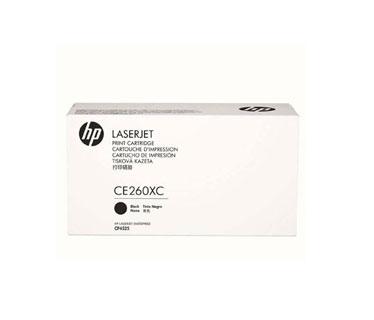 TONER HP CE260XC (CONTRACT) - TONER CARTRIDGE - 1 X BLACK - 17,000 PAGES - FOR COLOR LASERJET ENTERPRISE CM4540, CP4025, CP4525