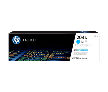 TONER HP 204A - CF511A - TONER CARTRIDGE - 1 X CYAN - 900 PAGES - FOR LASERJET PRO M180, M154NW