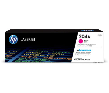 TONER HP 204A - CF513A - TONER CARTRIDGE - 1 X MAGENTA - 900 PAGES - FOR LASERJET PRO M180, M154NW