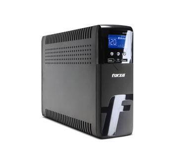 UPS FORZA XG-1201LCD - 1200 VA 720 WATTS, 10 ENTRADA, ONDA SINUSOIDAL, 2 PUERTO USB (CARGA DISPOSITIVO MOVIL), 120V, PROTECCION COAXIAL + RJ45 / RJ11 PROTECCION DE PICO