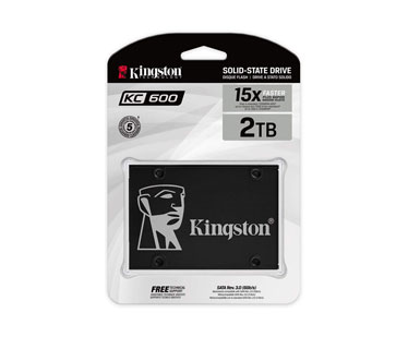 DISCO DE ESTADO SOLIDO KINGSTON 2048GB, SATA3 SSD, NEGRO.