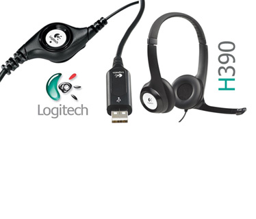 AUDIFONO HEADSET CON MICROFONO LOGITECH H390 PC INTERNET CLEAR CHAT CONFORT USB ( 981-000014 ).