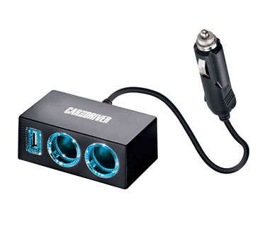 TRASMISOR BLUETOOTH PARA CARRO, 2 PUERTOS USB.