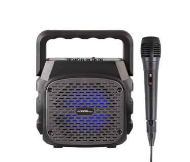 BOCINA MYO 10 PULGADAS (2 X 10) PORTATIL CON BATERIA RECARGABLE 250W, CON MICROFONO X1, MP3, FM, USB, BLUETOOTH, LED LIGHT