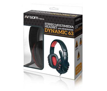 AUDIFONO USB ARGOM DYNAMIC 63, ESTEREO, LONGITUD DEL CABLE: 1.8M (6 PIES) CON MICROFONO.
