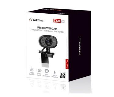 CAMARA WEB ARGOM CAM20 - HD, 720P MICROFONO INTEGRADO.