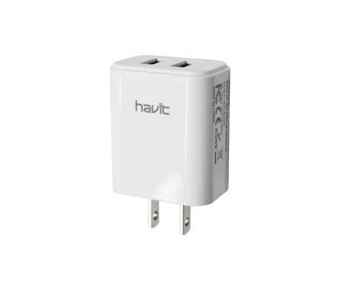 CARGADOR DE PARED DUAL USB (2.1AMP), HAVIT PARA SMARTPHONES & TABLETS