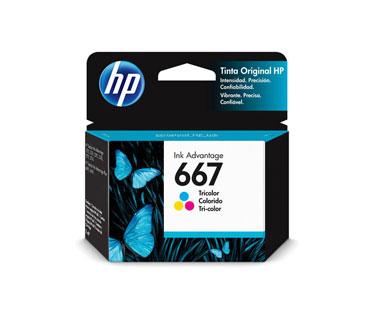 CARTUCHO HP 667 - 3YM78AL - COLOR - 2ML - PARA IMPRESORA INK ADVANTAGE 1275 / 2375 / 2775 / 6475