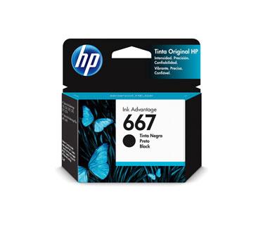 CARTUCHO HP 667 - 3YM79AL - NEGRO - 2ML - PARA IMPRESORA INK ADVANTAGE 1275 / 2375 / 2775 / 6475
