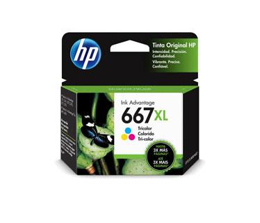 CARTUCHO HP 667XL - 3YM80AL - COLOR - 8ML - ALTO RENDIMIENTO - PARA IMPRESORA INK ADVANTAGE 1275 / 2375 / 2775 / 6475