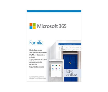 MICROSOFT OFFICE 365 HOME SPANISH SUBSCR 1YR LATAM ONLY MEDIALESS P6 (6 USUARIOS)