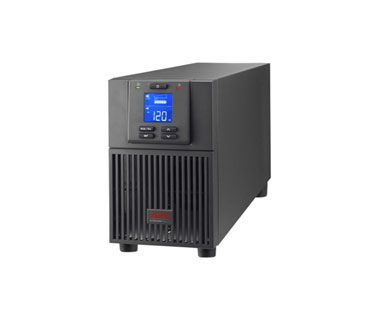 UPS APC SRV2KA ONLINE SINE WAVE LCD 2000VA / 1600W, INPUT 120V / OUTPUT 120V, 4 TOMAS, DB-9 RS-232, SMART-SLOT, USB