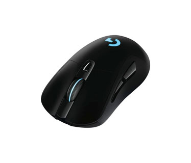 MOUSE G703 LIGHTSPEED WIRELESS GAMING, COLOR NEGRO, RGB LIGHTSYNC, OPTICO USB, 6 BOTONES PROGRAMABLE, VELOCIDAD DEL MOUSE AJUSTABLE ENTRE 100 A 16000 DPI, BATERIA HASTA 60 HORAS, PESO 95 GRAMOS