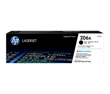 TONER HP 206A - W2110A - NEGRO - 1,350 PAGINAS - PARA IMPRESORA COLOR LASERJET - M255DW - M255NW - M282FDW - M282NW