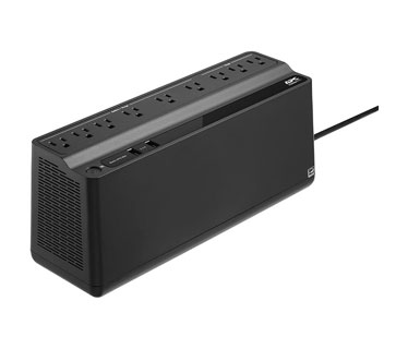 UPS APC BE850M2-LM BACK-UPS, 0.85KVA (850 VA), 450 WATTS, INPUT 120V / OUTPUT 120V, 2 USB CHARGING PORTS.