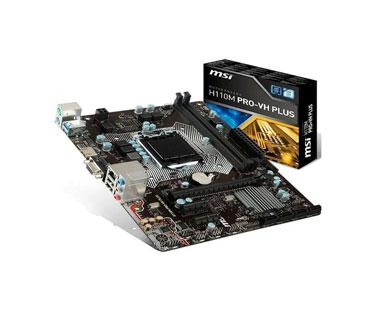 MOTHERBOARD MSI H110M PRO-VH PLUS, SOCKET 1151, CPU (MAX SUPPORT) I7, CHIPSET CHIPSET INTEL H110, DDR4 MEMORY 2133 MHZ, MEMORY CHANNEL DUAL, DIMM SLOTS 2, MAX MEMORY (GB) 32, PCI-E X16 1, PCI-E GEN GEN3, PCI-E X1 2, SATAIII 4, TPM (HEADER) 1, LAN 10/100/1000 * 1, PS/2 2, PUERTOS USB 3.1 (FRONTAL) 2 (GEN1), PUERTOS USB 3.1 (TRASERO) 1 (GEN1), PUERTOS USB 2.0 (FRONTAL) 2, PUERTOS USB 2.0 (TRASERO) 2, PUERTOS DE AUDIO (TRASERO) 3, VGA 1, HDMI 1, DIRECTX DX12, FACTOR DE FORMATO M-ATX