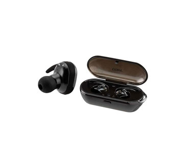 AUDIFONO COOLPODS TRU-FIT COBY, BLUETOOTH 5.0, ACTIVATE SIRI AND GOOGLE ASSISTANT, SOUND STEREO, CAJA CARGADOR