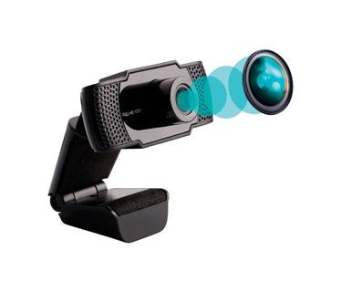 CAMARA WEB SLICE 1080 P MAS LUZ LED/ USB 2.0 / MICROFONO/ LUZ LED AJUSTABLE /DRIVERS INCLUIDOS