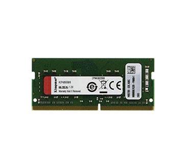 MEMORIA 8GB (1X8GB) KINGSTON, P/LAPTOP, DDR4, 2666MHZ, NON-ECC, CL19, SODIMM, 260 PIN (PC4-21300)