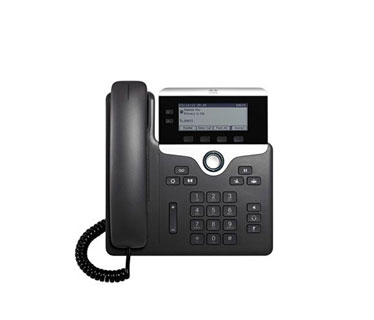 TELEFONO CISCO IP PHONE 7821 CON MULTIPLATFORM PHONE FIRMWARE – VOIP PHONE PROTOCOLOS (SIP, LDAP, CDP, SRTP, DHCP, TLS) – 2 LINES.