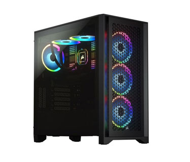 CASE CORSAIR 4000D AIRFLOW, MID TOWER, BLACK, 7 EXPANSION SLOT, 3X 2.5, 2X 3.5, TAPA DE CRISTAL TEMPLADO, SOPORTA 3 ABANICOS 120MM FRONTAL