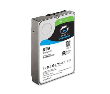 DISCO DURO 8TB P/VIDEOVIGILANCIA SKYHAWK INTERNO SEAGATE SATA 6 GB/S, 3.5, 7200RPM, .