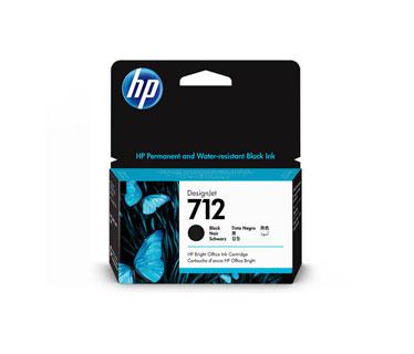CARTUCHO HP 712 - 3ED70A - NEGRO - 38ML - PARA IMPRESORA DESIGNJET STUDIO / T230 / T250 / T630 / T650