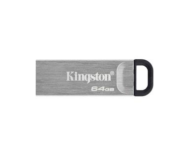 MEMORIA USB 128GB 3.2 KINGSTON, DATA TRAVELER KYSON G1, PLATEADO.