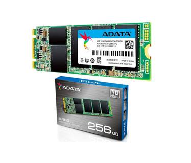 DISCO DE ESTADO SOLIDO SSD ADATA 256GB, SATA 3, M.2 , 3D NAND, VELOCIDAD DE LECTURA 560MB/S Y ESCRITURA 520MB/S