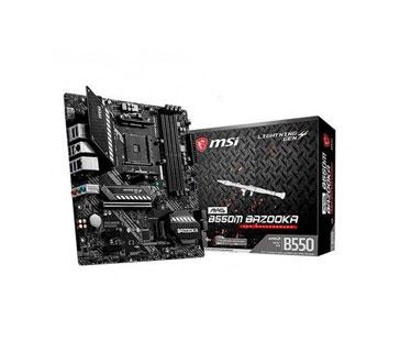 MOTHERBOARD MSI MAG B550M BAZOOKA (AMD), SOCKET AM4, CPU R3,R5,R9, AMD B550 CHIPSET, DDR4 MEMORY FROM 2133 TO 4400 MHZ, MEMORY CHANNEL DUAL, DIMM SLOTS 4, MAX MEMORY (GB) 128, PCI-E X16 1, PCI-E GEN GEN3, PCI-E X1 2, SATAIII 4, M.2 SLOT 2, 1, LAN REALTEK® 8111HN, USB (FRONTAL) 1(GEN 1, TYPE C), 2(GEN 1, TYPE A), (TRASEROS) 4(GEN 1, TYPE A), USB 2.0 4X FRONTAL, 2X USB 2.0 TRASEROS, DISPLAYPORT 1, HDMI 1, DIRECTX 12, FORM FACTOR MATX, WINDOWS 10, 64-BIT