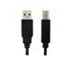 CABLE USB A/B ARGOM, 6 PIES, NEGRO. PARA IMPRESORA.