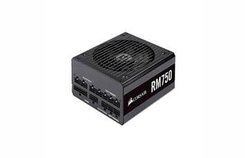 POWER SUPPLY CORSAIR RM750, 750 WATTS, FULL MODULAR 80 PLUS GOLD, CONECTORES PCI-E X8, SATA X11, COLOR NEGRO