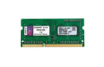 MEMORIA 4GB, KINGSTON, DDR3 SDRAM 1600MHZ,KVR16S11S8 / 4G PARA LAPTOP.