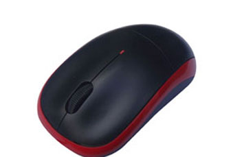 MOUSE AGILER 3D OPTICAL USB ROJO.