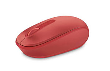 MOUSE MICROSOFT WIRELESS MOBILE 1850 FLAME RED