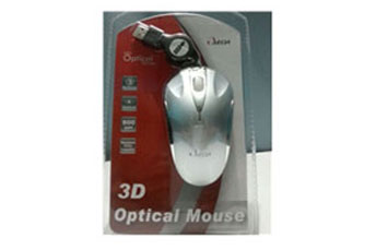 MOUSE OMEGA MINI OPTICAL USB SILVER RETRACTABLE.