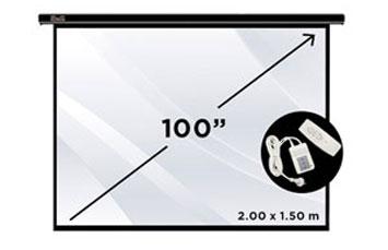 PANTALLA KLIPX 100 PULGS. ELECTRICA PARA PROYECTOR BLANCA W/ REMOTE CONTROL (AC120KLX21)
