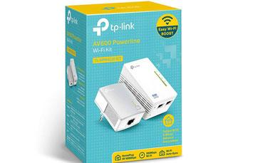 POWERLINE TP-LINK TL-WPA4220KIT, ACCESS POINT TL-WPA4220, 2.4GHZ/300MBPS, 2 PUERTOS LAN, HOMEPLUG AV/500MBPS, 802.11B/G/N + NETWORK ADAPTER TL-PA4010, 1 PUERTO LAN, HOMEPLUG AV/500MBPS.