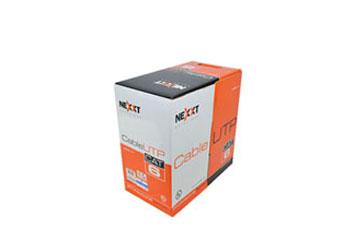 ROLLO DE CABLE UTP NEXXT, CAT - 6, 1000 PIES, GRIS.