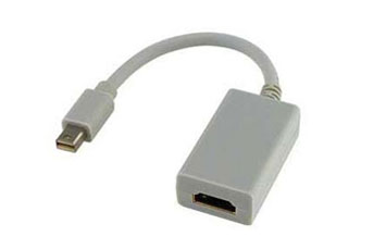 ADAPTADOR CONVERTIDOR MINI DISPLAY PORT A HDMI, FUNCIONA CON MACBOOK PRO / AIR AGILER ( AGI-1121 ).