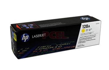 TONER HP 128A Yellow LaserJet Print Cartridge (CE322A) P/ HP LaserJet PrintersCP1525nwHP Multifunction and All-in-One ProductsCM1415fnw MFP