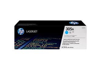 TONER HP 305A - Toner cartridge - 1 x cyan - 2600 pages - for LaserJet Pro 300 color M351a, 300 color MFP M375nw, 400 color M451, 400 color MFP M475