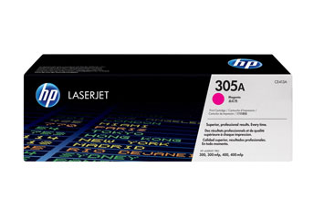 TONER HP 305A - Toner cartridge - 1 x magenta - 2600 pages - for LaserJet Pro 300 color M351a, 300 color MFP M375nw, 400 color M451, 400 color MFP M475