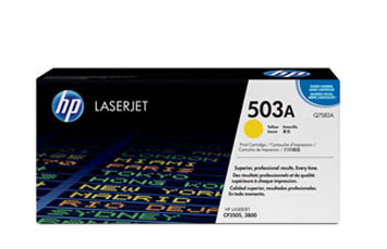 TONER HP 503A - Q7582A - toner cartridge - 1 x yellow - 6000 pages - for Color LaserJet 3800, 3800dn, 3800dtn, 3800n, CP3505, CP3505dn, CP3505n, CP3505x