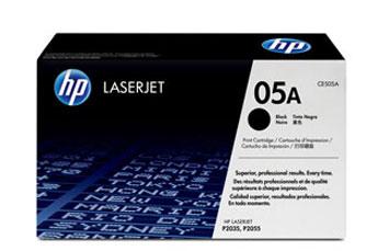 TONER HP CE505A - TONER CARTRIDGE - 1 X BLACK - 2300 PAGES PARA LJ P2035/P2055 SERIES